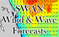 SWAN Wind & Wave Forecasts